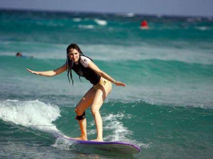 Surfer tout seul