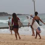 En direct de l'Australian Open of surfing à Manly !
