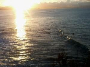 sunset byron bay
