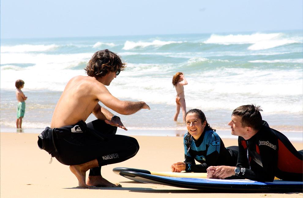 prof de surf